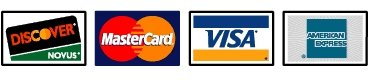 Acceptinhg Visa - Master Card - Discover Card - American Express